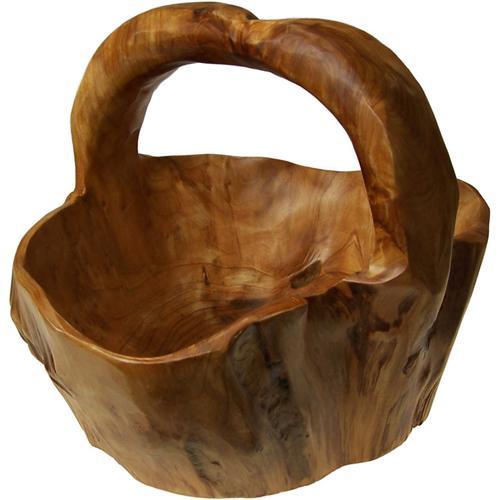 Cesta de madera talla mediana venta dietetica on line - Cestos de madera ...
