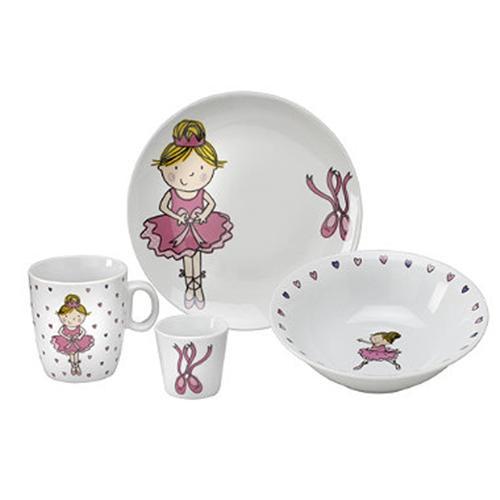 set vajilla infantil de porcelana bailarrina arthur wood