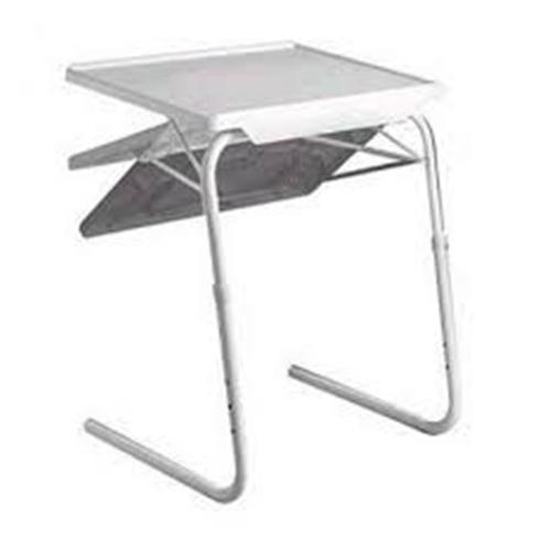 Mesa auxiliar plegable blanca for Mesa plegable multiusos